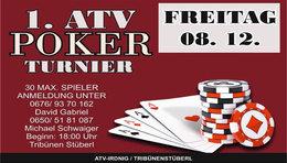 Erstes ATV Irdning Pokerturnier im Tribünenstüberl!