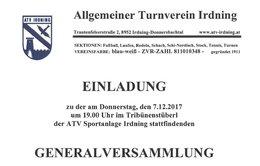 Generalversammlung ATV Irdning