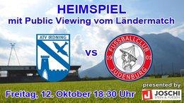 Heimspiel gegen FC Judenburg, Freitag 12. Oktober 18:30 Uhr